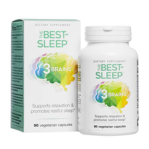3 Brains by Natural Factors, The Best-Sleep, Natural Sleep Aid to Support Relaxation & Restful Sleep, Vegan, 90 Capsules (45 Servings)