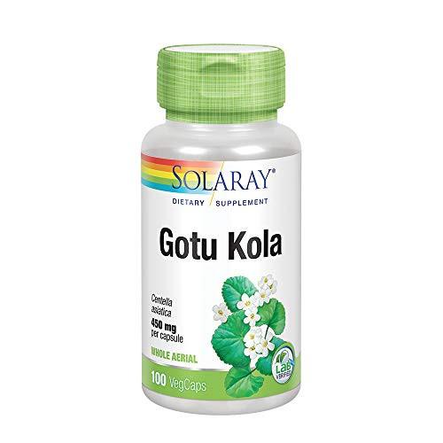 Solaray Gotu Kola 450 mg   Healthy Mood & Blood Circulation Support   Non-GMO & Vegan   100 VegCaps