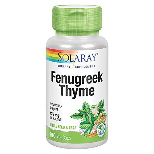 Solaray Fenugreek and Thyme Capsules, 475 mg   100 Count