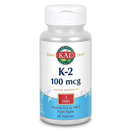 Kal 100 Mcg K2 Mk-7 Tablets, 60 Count