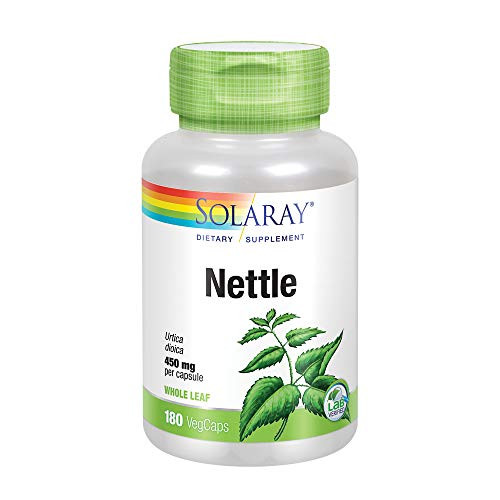 Solaray Nettle Leaf 450mg   Healthy Kidney, Urinary & Prostate Support   Traditional Use for Healthy Allergy Response & Respiratory Wellness   180 CT