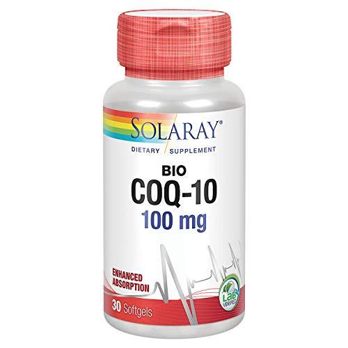 Solaray Bio CoQ-10 100 mg   Enhanced Absorption   Vitamins A & E   Healthy Heart & Cellular Energy Support (30 CT)