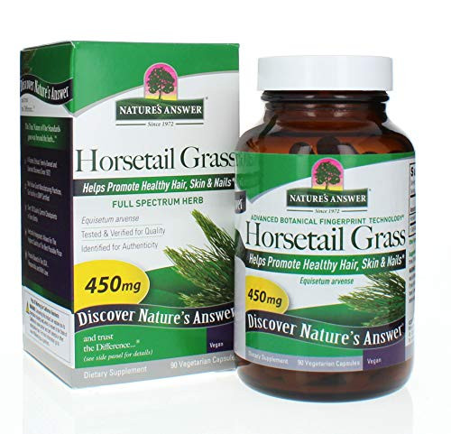 Nature's Answer Horsetail Herb Capsules 90 Count | Hair, Skin, & Nails Support | Promotes Urinary Tract Health | Strengthen Joints