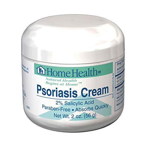 Home Health Psoriasis Cream - 2% Salicylic Acid, 2 oz - Relieves Itching, Redness & Irritation from Dandruff & Seborrheic Dermatitis, Moisturizes Dry Skin - Non-GMO, Paraben-Free