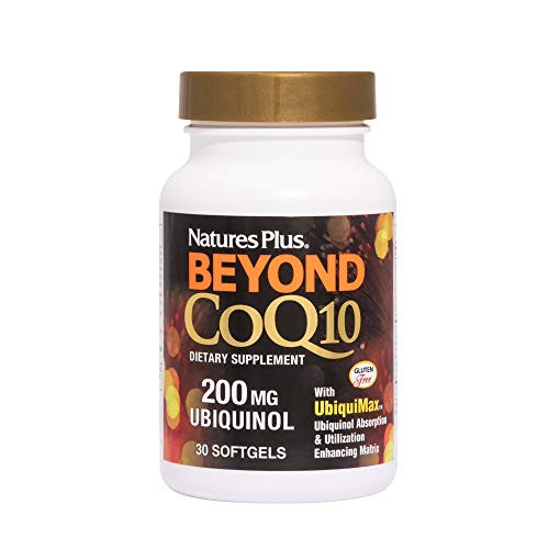 NaturesPlus Beyond CoQ10-200 mg Ubiquinol - 30 Easy to Swallow Softgels - High Potency, High Absorption Supplement, Promotes Heart Health, Antioxidant - 30 Servings
