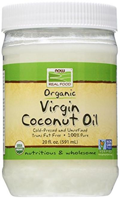 NOW Foods Organic Virgin Coconut Oil, 20 oz