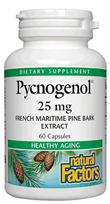Natural Factors, Pycnogenol 25 mg, Antioxidant Support for Healthy Aging, 60 Capsules