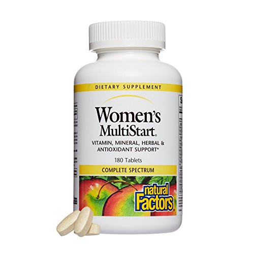 Natural Factors, Women's MultiStart Daily Multivitamin, Nutritional Support for Immune Health and Energy, 180 tablets (60 servings)