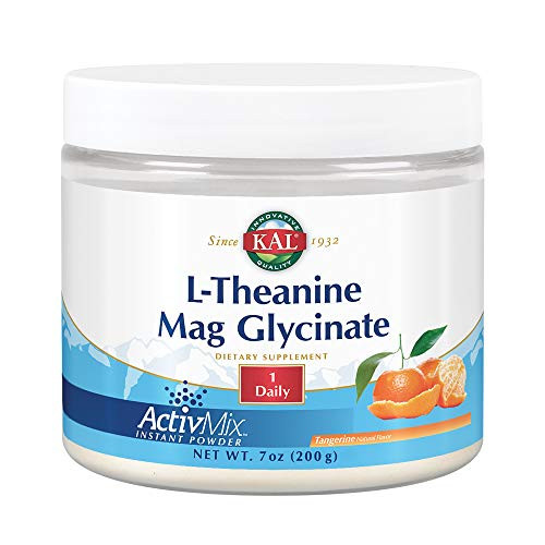 KAL L-Theanine Mag Glycinate ActivMix | Healthy Relaxation, Stress, Mood & Focus Support Drink Powder | Natural Tangerine Flavor | 7 oz | 50 Servings