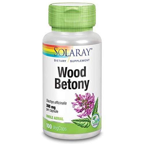 Solaray Wood Betony Capsules, 300 mg | 100 Count