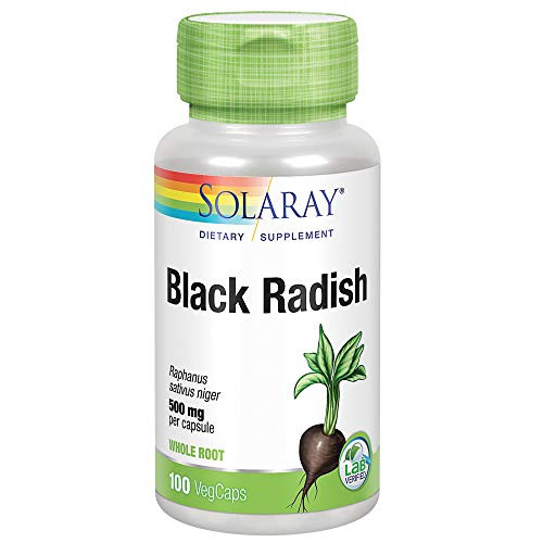 Solaray Black Radish Root 500 mg | Healthy Internal Cleansing & Liver Function Support | Non-GMO & Vegan | 100 VegCaps