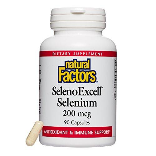 Natural Factors - SelenoExcell Selenium 200mcg, Antioxidant & Immune Support, 90 Capsules