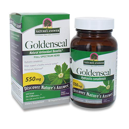 Nature's Answer Goldenseal Root Vegetarian Capsules, 50-Count | Promotes Overall Wellness | Natural Immune Booster | Inflammatory Reducer