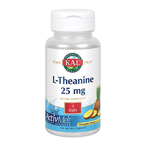 Kal 25 Mg L-theanine Tablets, Pineapple, 120 Count-1610696683