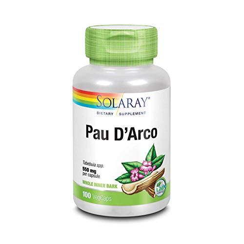 Solaray PAU D'arco Inner Bark Capsules, 510 mg   33 Servings, 100 Count
