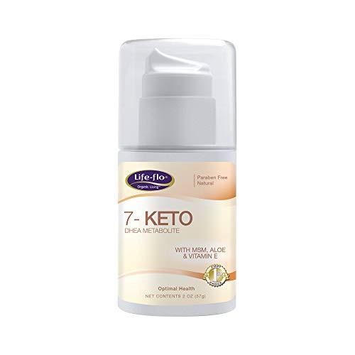 Life-Flo 7-Keto DHEA Metabolite Cream 15mg   MSM, Aloe & Vitamin E   Measured Pump   Unscented   2oz