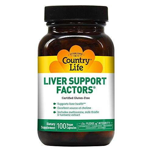 Country Life Liver Support Factors - 100 Vegan Capsules - Liver health - Excellent source of choline - Gluten-free