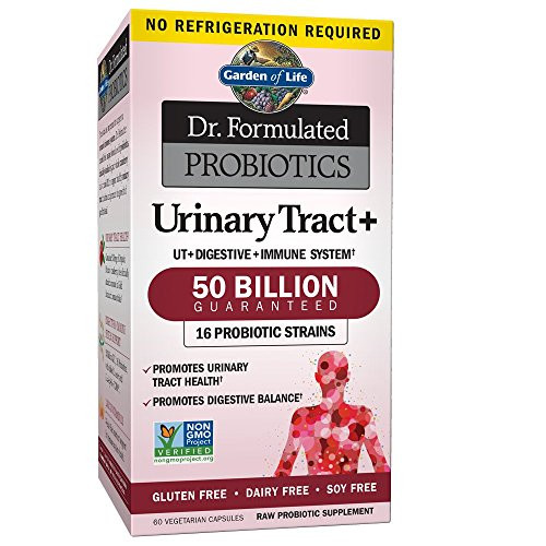 Garden of Life - Dr. Formulated Probiotics Urinary Tract+ - Acidophilus Probiotic Supports Urinary Tract Health, Digestive Balance - Gluten, Dairy, and Soy-Free - 60 Vegetarian Capsules-1610135657