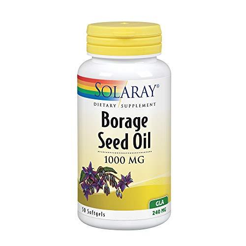 Solaray Borage Oil Seed, Softgel (Btl-Plastic) 240mg 50ct