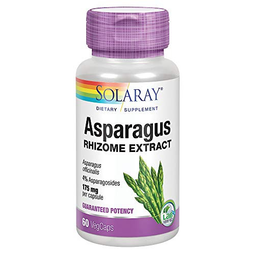 Solaray Asparagus Rhizome Extract 175 mg w/Whole Root   Healthy Urinary Tract & Digestive Health Support   60 VegCaps