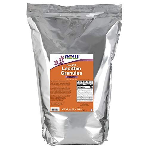 NOW Supplements, Lecithin Granules with naturally occurring Phosphatidyl Choline and Other Phosphatides, 10-Pound