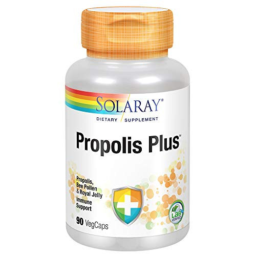 Solaray Propolis Plus | Healthy Immune System Support with Propolis, Bee Pollen & Royal Jelly | 90 VegCaps