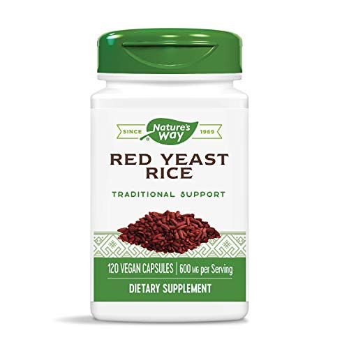 Nature's Way Red Yeast Rice 600mg, Vcaps, 120 Count