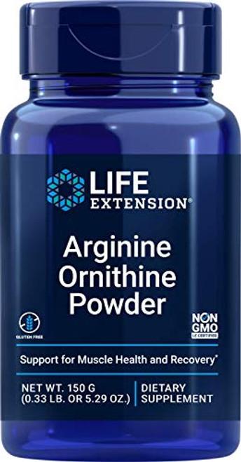 Life Extension Arginine Ornithine Powder, 150 Gram