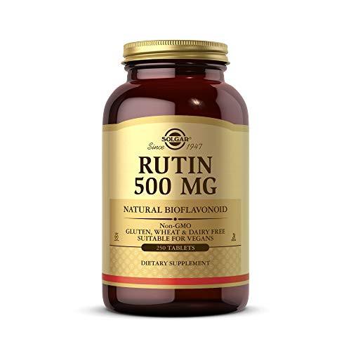 Solgar Rutin 500 mg, 250 Tablets - Antioxidant - Natural Bioflavonoid - Vegan, Gluten Free, Dairy Free, Kosher - 250 Servings