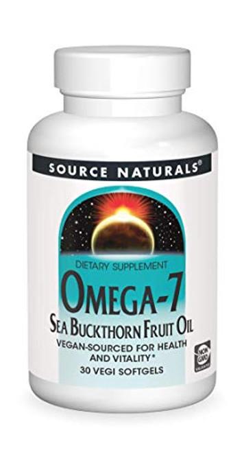 Source Naturals Omega-7 Sea Buckthorn Fruit Oil - Non-GMO, Vegan-Sourced - 30 Softgels