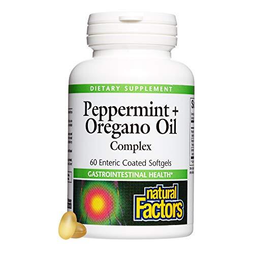 Natural Factors, Peppermint & Oregano Oil Complex, Digestive Aid for Gastrointestinal Health, 60 softgels