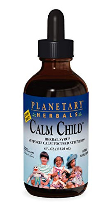Planetary Herbals Calm Child Herbal Syrup - Includes Soothing Botanicals Chamomile, Lemon Balm, Catnip & More - 4oz-1610699059