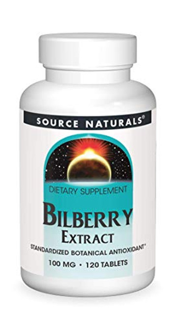 Source Naturals Bilberry Extract 100 mg Standardized Botanical Antioxidant - 120 Tablets