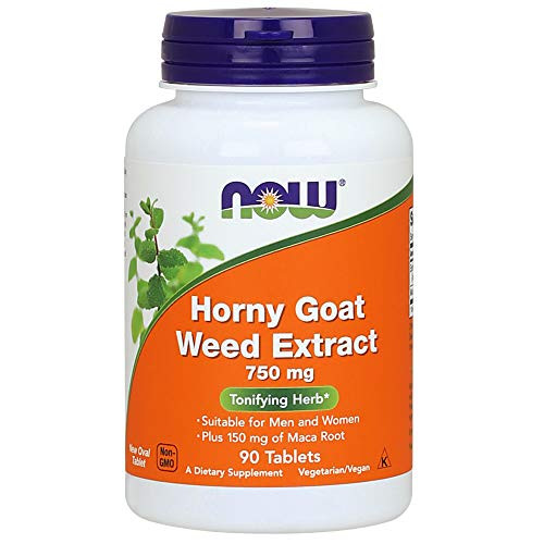 NOW Foods Horny Goat Weed 750 Mg 90-Tablets-1610699198