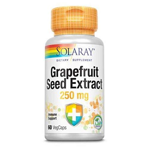 Solaray Guaranteed Potency Grapefruit Seed Extract, Veg Cap (Btl-Plastic) 250mg | 60ct