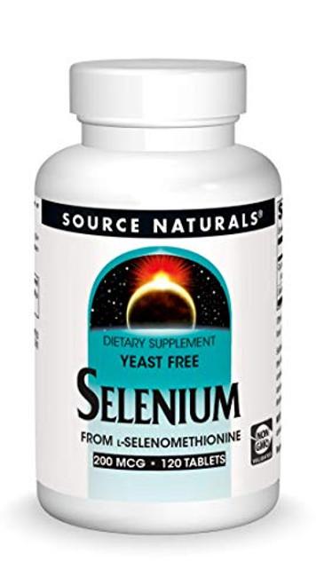 Source Naturals Selenium, Yeast Free 200 mcg from L-Selenomethionine - 120 Tablets