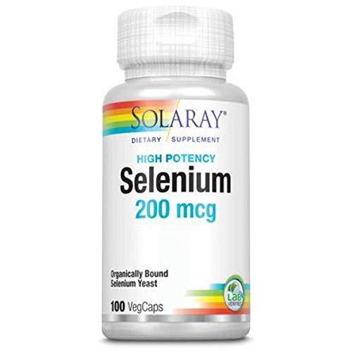 Solaray Selenium Organically Bound, Veg Cap (Btl-Plastic) 200mcg | 100ct
