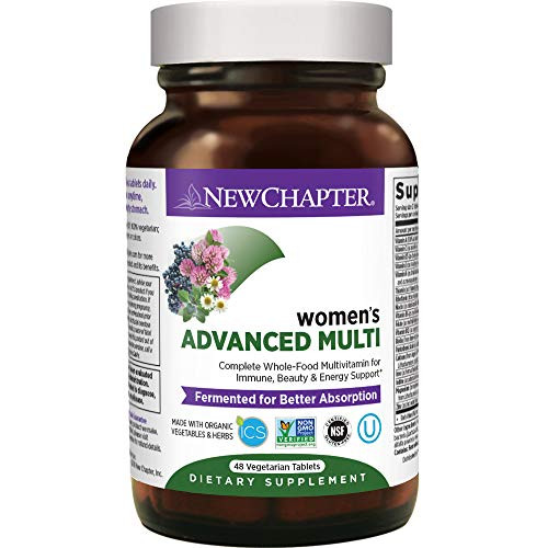 New Chapter Women's Multivitamin + Immune Support, Women's Advanced Multi (Formerly Every Woman) Fermented with Whole-Foods & Probiotics + Iron + Vitamin D3 - 48 ct (Packaging May Vary)