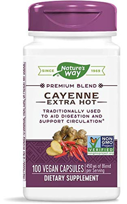 Nature's Way Cayenne Extra Hot, 100 Capsules (Pack of 2)-1610699941