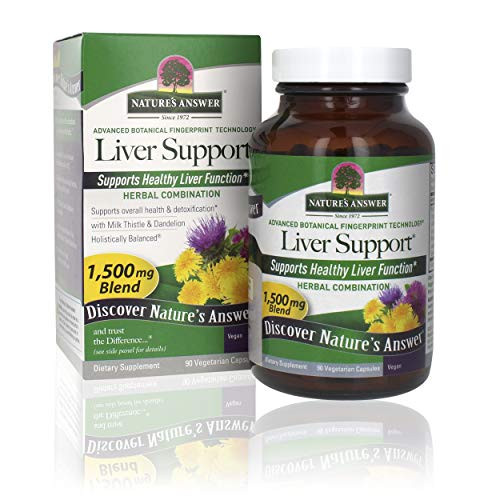 Nature's Answer Liver Support   Herbal Combination with Milk Thistle & Dandelion   Dietary Supplements   Promotes Healthy Liver Function   Kosher Certified, Vegetarian & Vegan 90 Capsules
