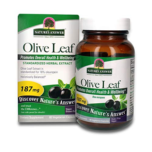 Nature's Answer Oleopein Olive Leaf Vegetarian Capsules, 60-Count Promotes Overall Good Health and Well Being* Alcohol-Free, Gluten-Free & Kosher