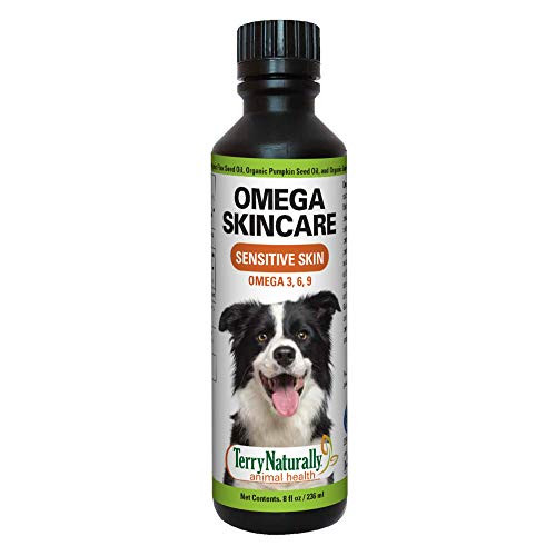 Terry Naturally Animal Health Omega Skincare - 8 fl. oz. - Omega 3 6 9, Flax Seed, Sunflower & Pumpkin Seed Oil - Promote Healthy Skin for Your Dog - Canine Only - 47 Servings