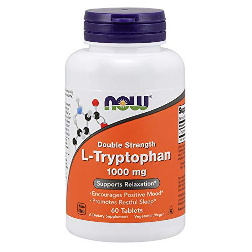NOW Foods - Now Foods L-tryptophan 1000mg, Tablets, 60-Count [Health and Beauty](Pack of 2)-1610700826