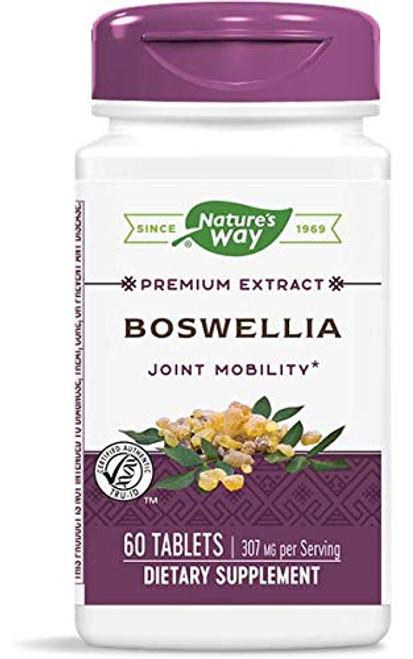 Nature's Way Standardized Boswellia, 40% Boswellic Acids per Serving, TRU-ID Certified, Vegetarian, 60 Tablets, Pack of 2