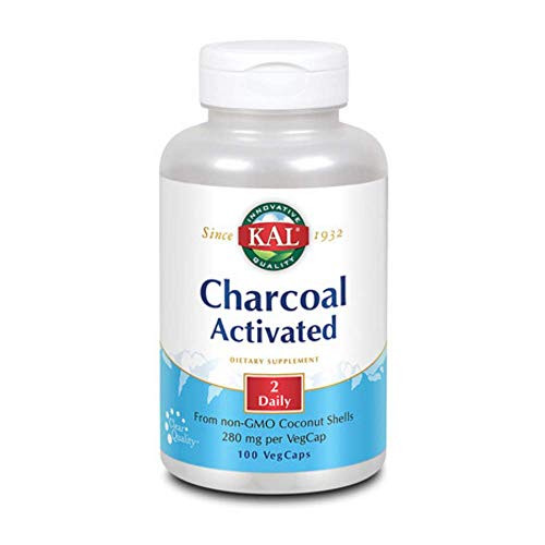 KAL Charcoal, Activated Coconut Shell 280mg | 100ct