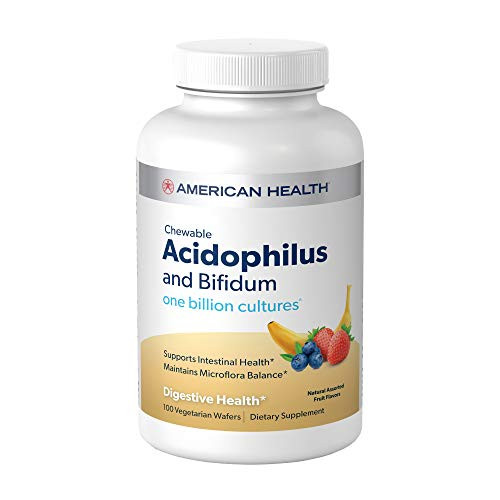 American Health, Acidophilus Asst Fruit Flavors Wafers, 100 Count