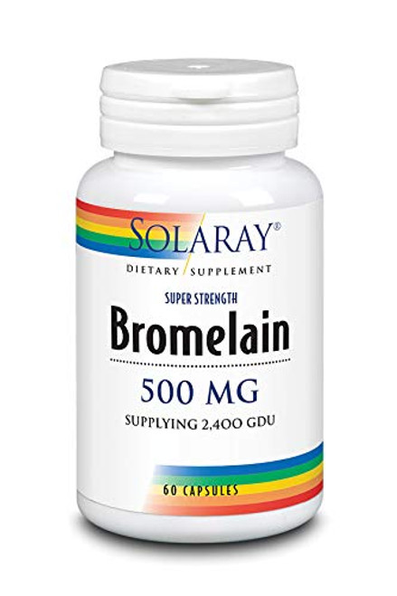 Solaray Bromelain Supplement, 500mg   60 Count