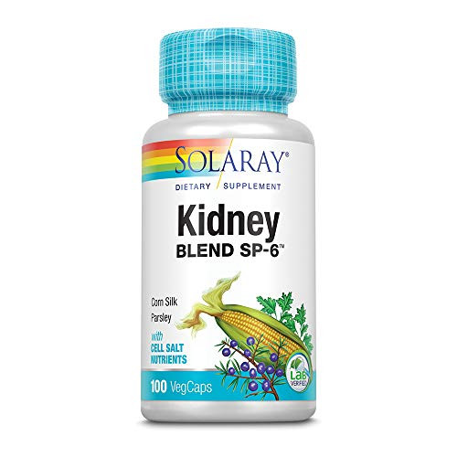 Solaray Kidney Blend SP-6 | Herbal Blend w/Cell Salt Nutrients to Help Support Healthy Kidney Function | Non-GMO, Vegan (1 Pack)