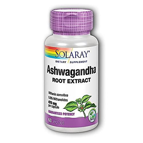 Solaray - Ashwagandha, 470 mg, 60 capsules-1610701411