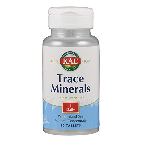Kal Trace Minerals Actisorb Tablets, 30 Count